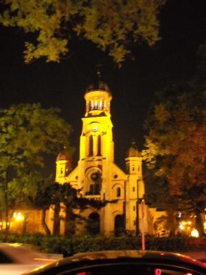 ライトアップされた殿洞聖堂