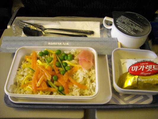 ソウルから帰りの機内食