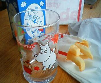 ムーミンのグラス