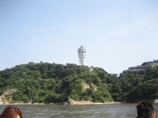 船から観る江ノ島