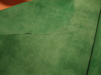 緑のベロア