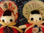 文化人形の目