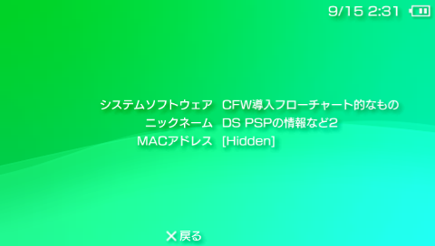 PSP CFW フローチャート1