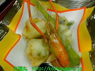 油物~五色揚(枝豆・椎茸・帆立・コーン・パプリカ~