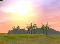 ホーリー平野の夕焼け