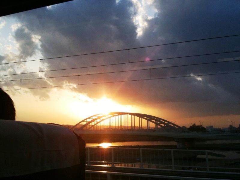 20100403花見:夕日