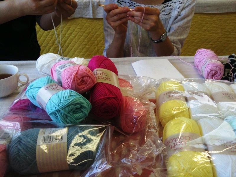 シュシュたくさん毛糸