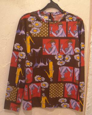 女の子柄Vintageシャツ