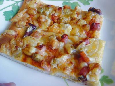 20071214ビーンズピザ