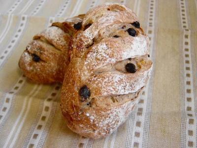 20080203ナッツとチョコチップのずんぐりパンアップ1