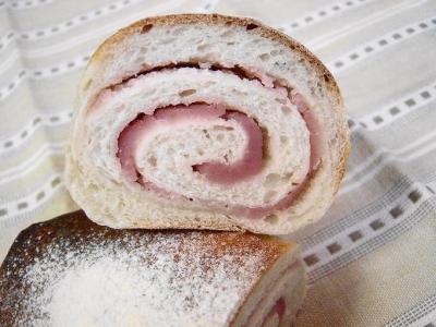 20080207桜餡ぐるぐるパン