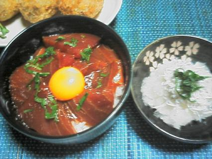 マグロユッケ風丼