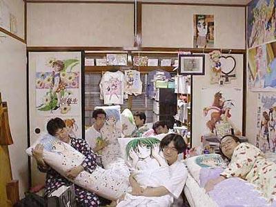 韓国反日コラ画像 日本男子学生寮