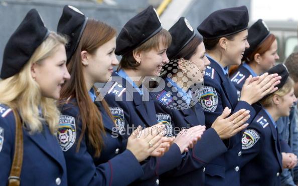 ウクライナ軍女性兵士