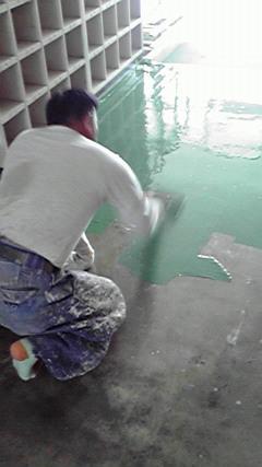 ユカクリート・主剤塗布