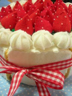 フェルトのケーキ アップ