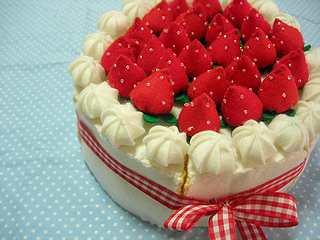 フェルトのケーキ