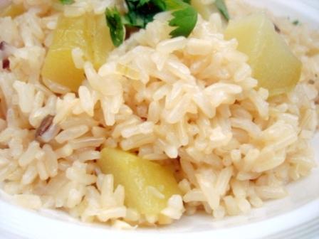 ハヤトウリ玄米炊き込み