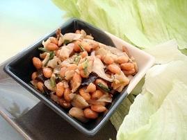 キノコレタス納豆