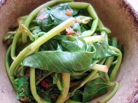 空芯菜の梅和え