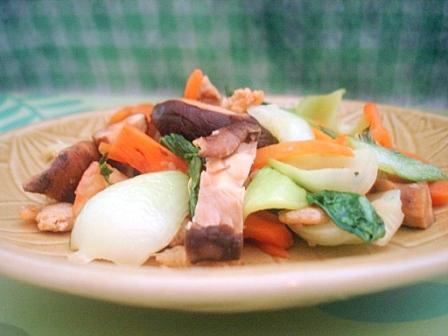 青梗菜の炒め物