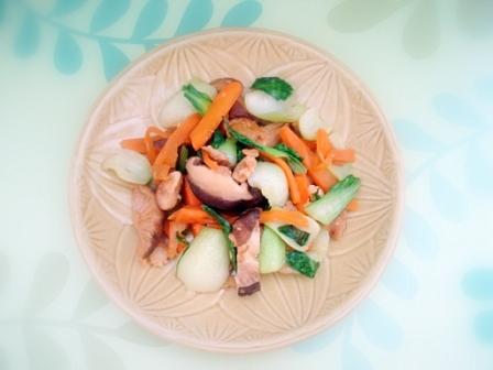 青梗菜の炒め物3