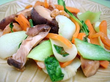 青梗菜の炒め物2