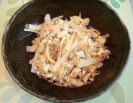 蟹入りパパイヤ卵炒め