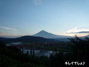 富士山がとってもキレイに見えます
