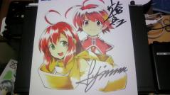 キラ☆キラ&DEARDROP複製サイン色紙