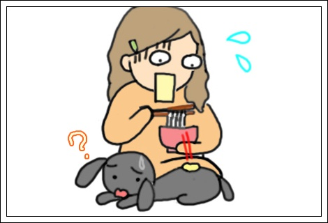 天ぷら落下