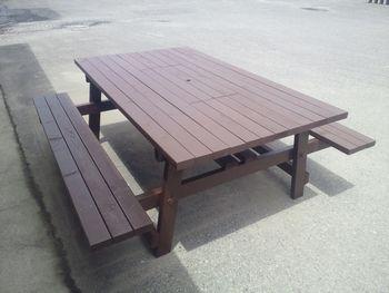自作ガーデンテーブル完成