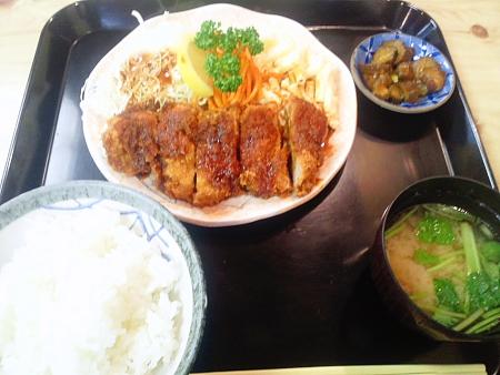ヒレ竹かつ定食