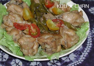 鶏肉のすっぱ煮1