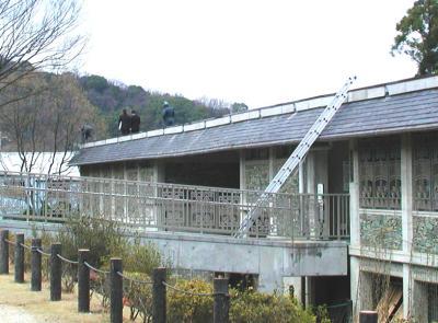 紀伊風土記の丘18-資料館の屋根