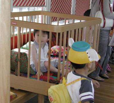 おもちゃ電車31車内ベビーサークル