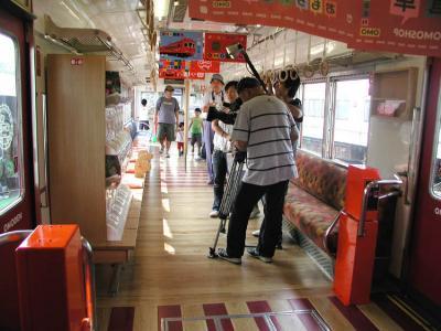 おもちゃ電車32車内取材