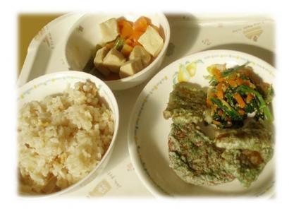 社員食堂~干しイモの天ぷら