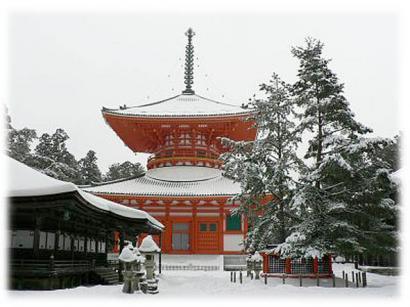 冬の高野山は雪でいっぱい2008