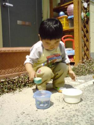 ゆうと~砂遊び200705