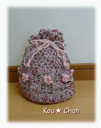 レース編みのバッグ02