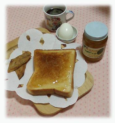 mさとさんより~朝食です