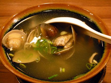 乾杯のはまぐりスープ
