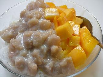 芒果芋頭牛奶冰