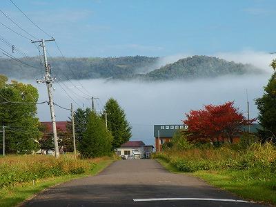 朝霧の屈斜路湖