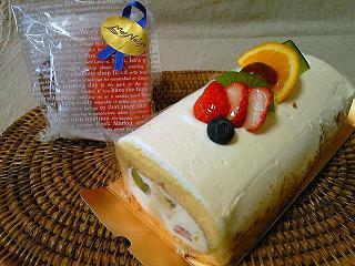 フルーツロールケーキ1