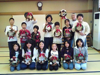 クリスマスリース教室1