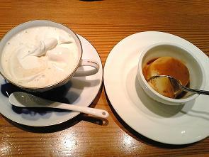 ウインナーコーヒーとプリン