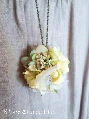 お花ネックレス1