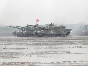 観閲前部隊移動_第71戦車連隊